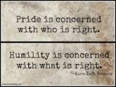 humility concerned with what is right