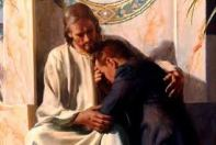 prayer jesus holding young man