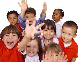 Children faces closeup