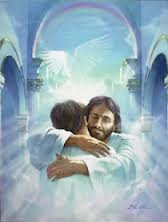 prayer comfort jesus hugging person